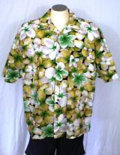 Beach Rays Green XXL Aloha Casual Shirt Authentic Surfwear Flowers Leaves Cotton