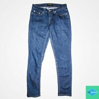 Levi's 524 Too Superlow 28 x 29 SKINNY Med Wash Womens Juniors Jeans Stretch