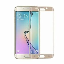 Full Tempered Glass Screen Protector FOR Samsung Galaxy S6 Edge Curved GOLD