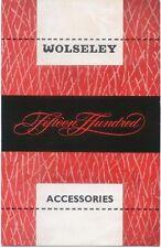 Wolseley Fifteen Hundred 1500 Accessories 1960-61 Original UK Sales Brochure
