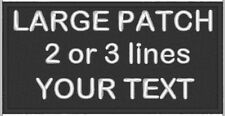 Personalised Name Tag, Embroidered Patch, BIKER Patch, Iron On YOUR TEXT