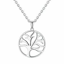Sterling Silver Filigree Tree Of Life Pendant Necklace With Adjustable Chain