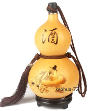 Natural Pyrographing Gourds Portable Water Cup, Wine, Medicine Gourd, Gift