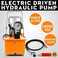 10000 PSI Single Manual Valve Single-Circuit 110V Electric Driven Hydraulic Pump