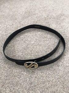Ladies VINTAGE JAEGER Leather Belt. Black. S/M.