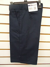Boys IZOD $30 Navy or Khaki Uniform/Casual Flat Ft Adj. Waist Shorts Size 8 - 18