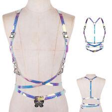 Vinyl PVC Women Harness Strap Harness Chest Punk Body Bandage Waist Belt Costume