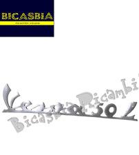 2914 - TARGHETTA IN ALLUMINIO CON PIOLI TELAIO POSTERIORE VESPA 50 L