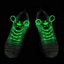 1 - 25 Green LED Shoelaces Light Up Fibre Glow Flashing Luminous Shoe Lace Party