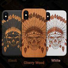 Indian Skull 2 Wood Case For iPhone 13/11/11 Pro/Max/Mini, X/XS/XR/XS Max