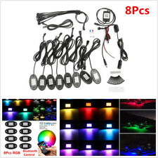 8x RGB LED Rock Strips Under Car SUV Underbody Bluetooth APP Control Neon Lights