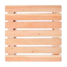 Pedana doccia antiscivolo 68 x 68cm con assi in legno massello larice per piatti