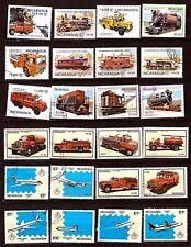 NICARAGUA Avions,camions,voiture de pompier H238