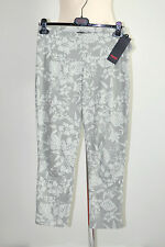 Minx Taglia 40 Stretch Pantaloni 7/8 TUBO sudoccidentali grigio chiaro/Kitt NUOVO