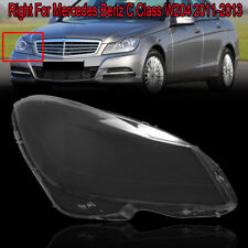 Fit for Mercedes Benz C Class W204 Headligts Cover 11-13 PC Polycarbonate Right