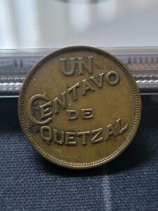 Guatemala 1932 Un Centavo Bronze Coin + VF