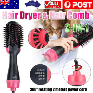 3-in-1 Hot Air Style Curler Hair Dryer Styling Roll Hair Brush Comb Hairdryer
