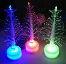 NEW Optical Fiber LED Holiday  Color Changing LED Night Light Christmas Tree