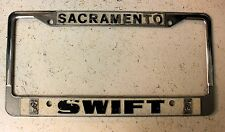 Sacramento Ca, Swift RollsRoyce Dealership metal tag Single License Plate Frame