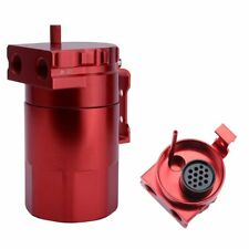 300ml Engine Oil Catch Can Reservoir Tank Dual Cylinder Oil Separator 2-Port Kit