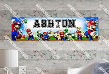 Personalized/Customized Super Mario Name Poster Wall Art Decoration Banner