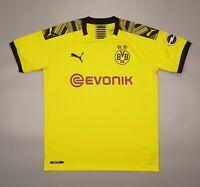 NWOT Borussia Dortmund Home 2019 2020 Football Soccer SHirt Jersey Puma Kit