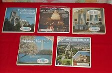 WASHINGTON D.C. & THE WHITE HOUSE VIEW-MASTER REELS lot x5 packets