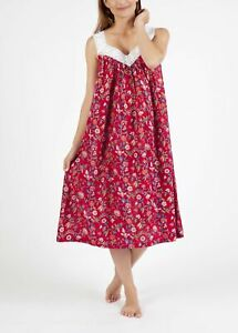 New NIGHT DRESS - RED FLORAL WITH V NECK - NIGHTIE