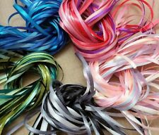 Roll Ends Craft Ribbon - 50 metres NARROW RIBBON - Assorted Colours