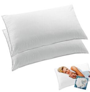 Coppia Guanciali cuscini camera da letto federa cotone morbidi made in italy