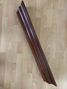 "Pottery Barn Cherry Wood  Floating Shelf Plate Groove 36"" Crown Molding Ledge"
