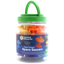 Learning Resources Super Suction Space Saucers - Pack of 30 - LSP5550