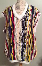 Delf Sweater Vest Mens Size  XXL Colorful Biggie Hiphop 90's Acrylic