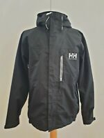 K779 MENS HELLY HANSEN BLACK FULL ZIP HOODED CASUAL COAT UK S EU 46