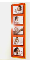 """Cheshire Acrylic easy change Magnetic 5 x 7""""/7 x 5 """" multi picture photo frame"""