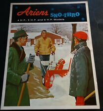 RARE VINTAGE 1966 ARIENS SNO-THROW 4, 5, & 6 HP SALES BROCHURE 4 PAGES  (491)