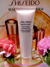 "Shiseido Benefiance Extra Creamy Cleansing Foam◆(30ml/1oz)◆Brand New""FREE POST"""