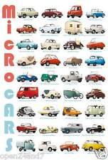 "AUTOS ""MICRO CARS V.1"" POSTER-45 Models:Pugeot,Fiat,BMW Isetta,Rolux,Bond,Lloyd"