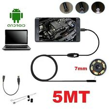 ENDOSCOPE USB VIDEO CAMERA FLEXIBLE INSPECTION FOR SMARTPHONE ANDROID PC