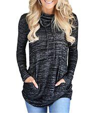 Plus Size Womens Long Sleeve Sweatshirt Ladies Casual Tops Blouse Sport T-shirt