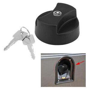 Car Fuel Filler Cap with 2 Locking Keys for Land Rover Defender STC4072 Black AU