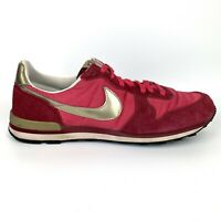 Nike Red Gold Running Shoes Women's 11 Suede Internationalist 316374-691 Pink