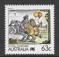 AUSTRALIA 1988 Living Together 63c POLICE 1v MNH