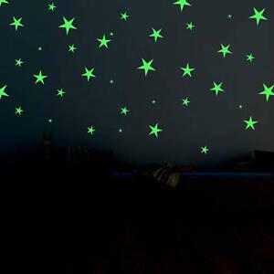stelline luminose fosforescenti cameretta stelle adesivi brillano al buio 103