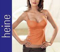 NEU: SEXY MIKROFASER BH-HEMDCHEN mit SOFT CUPS 75 C orange HEINE *096697