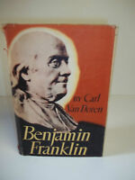 Benjamin Franklin by Carl Van Doren 1938.. Ambassador..Inventor..Biography..USA