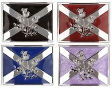 Scottish Saltire Thistle Highland Kilt Belt Buckle MG1