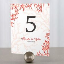 Personalized Reef Coral Wedding Table Numbers