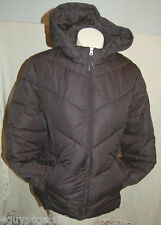 Fluffy Winter COAT Detachable Hood NWOT XS Black 0-2 WOMENS INSULATED JACKET