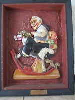 "Original 3D Mixed Media ""Grandpa At the Reins"" Framed folk Art By Ackerman NoRes"